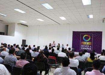 Reunión de trabajo con Presidentes y Secretarios Generales de los Comités Municipales del Partidos Podemos Mover a Chiapas